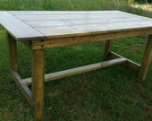 "READY TO SHIP Today - Custom Built Pine Farm Table- 6 Feet Long - 36"" Wide - 30"" Tall"