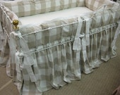 Buffalo Check-Tailored Bumper-Gathered CribSkirt-Fabric Furnished by Client-Labor Only Listing-Custom Tailored Crib Bedding Sewing Service