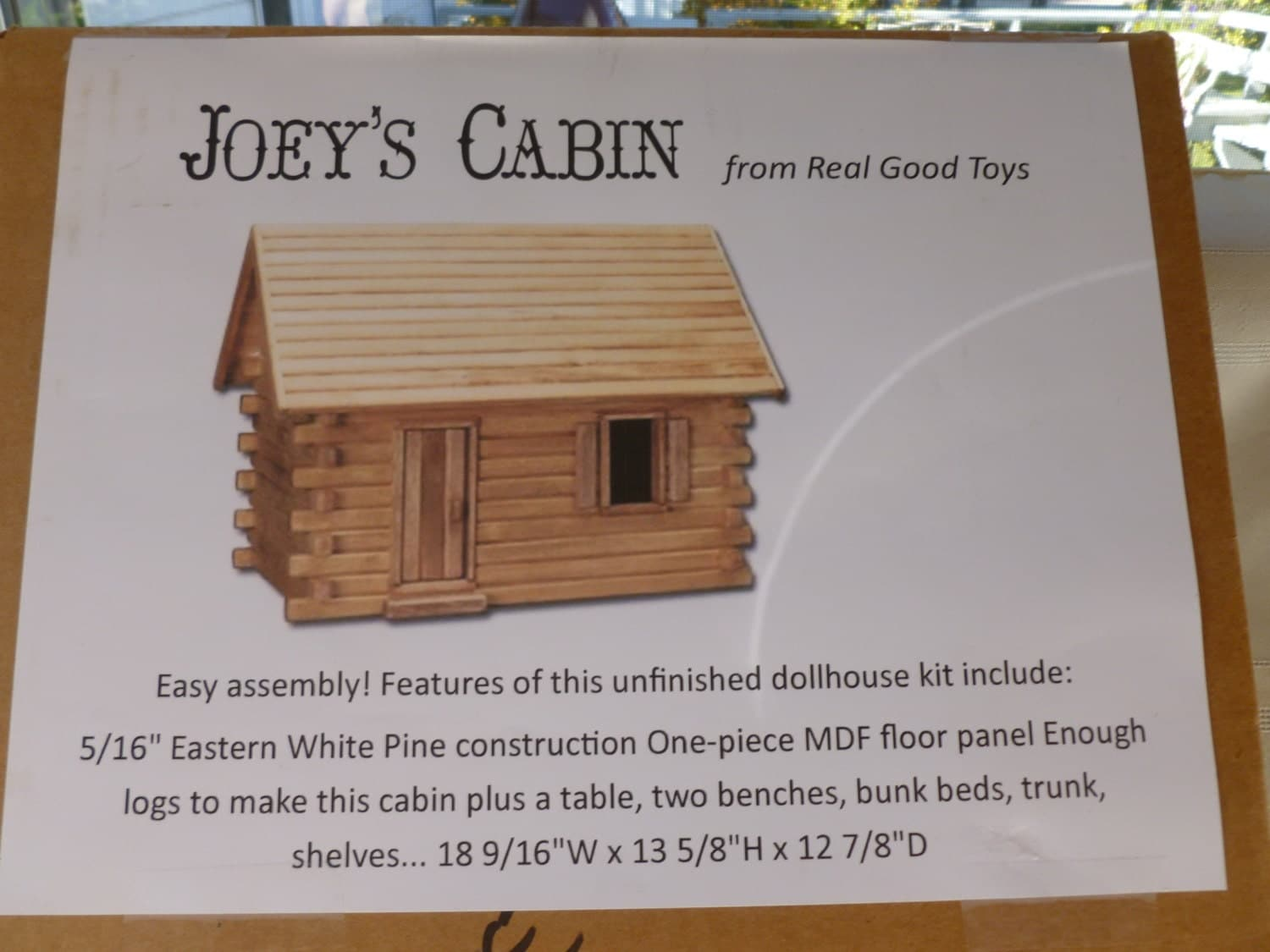 Wonderful image of Log Cabin Model Kit Real Good Toys Joeys Cabin Etsy with #714726 color and 1500x1125 pixels