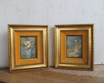 Ornate Vintage Pictures, Gold