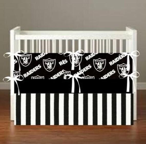 Oakland Raiders Oakland Raiders Crib Bedding 4 By Flashybaby