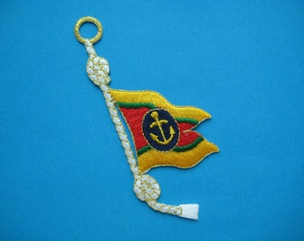 Iron-on embroidered applique SAILING 4 inch