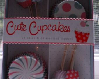 Cute Cupcakes Meri Meri Cupcake Liners and Assorted Toppers