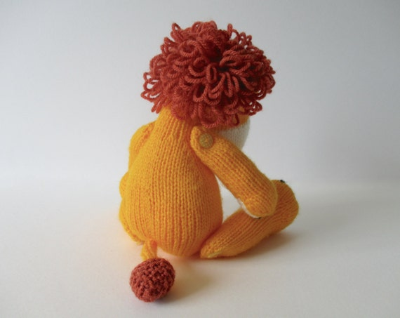Lion Knitting Pattern Toy : Samson the Lion toy knitting pattern from fluffandfuzz on Etsy Studio