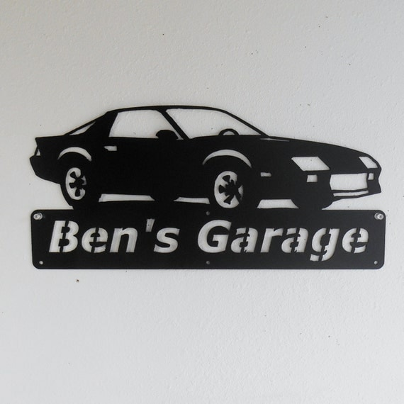 Chevrolet Camaro / 1982-1992 / Personalized / Man Cave / Garage Sign / Satin Black / 3rd Generation /