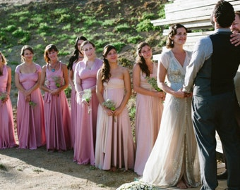 Mismatched Bridesmaids~ Long Maxi, Ball Gown Infinity Dress- Choose your Fabric from over 55 colors-