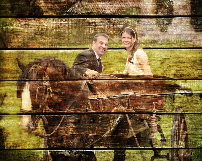 REAL WOOD print Custom Anniversary Gift Wedding Decoration or Wedding Anniversary Gift 16x20