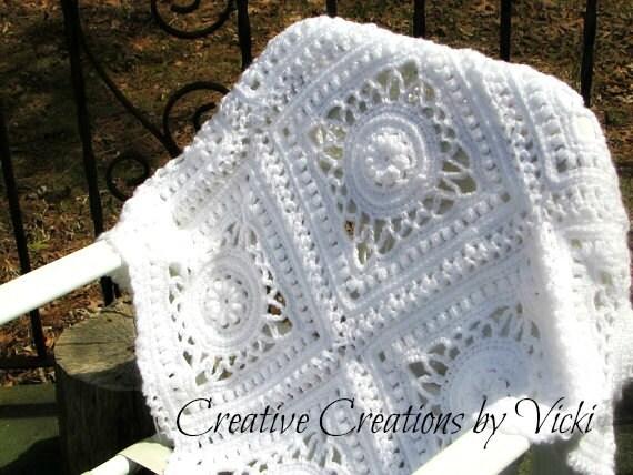 Crochet Pattern Afghan Crochet Pattern Vintage Crochet