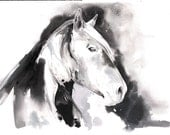 Horse Painting, Original Watercolour Painting, Horse Watercolor, Horse Illustration. Impressionism, Horse