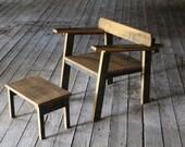 reclaimed oak mid century modern inspired chair ... amelia