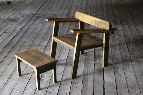 reclaimed oak mid century modern inspired chair ... amelia