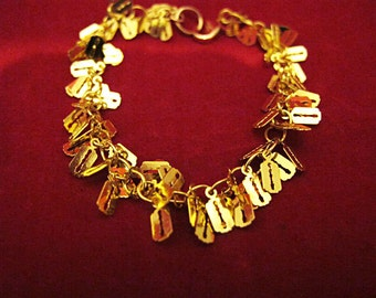 Charmed Chain Bracelet - Gold Plated Razor Blade Charms