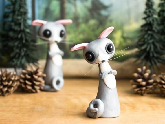 Bush Baby Mouse Lemur Figurine by Bonjour Poupette