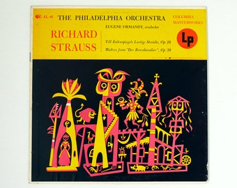JIM FLORA - Rare Album Cover - Richard Strauss - Eugene Ormandy Conducts the Philadelphia Orchestra