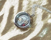 Legend of Zelda OoT Story Locket Pendant Necklace Floating Swarovski Glass and Metal Charms Custom by TorresDesigns - Ready To Ship