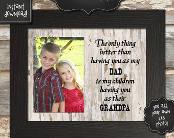 GIFT FOR GRANDPA - Father's Day Printable - 8x10 - Instantly Downloadable Digital File - You Print