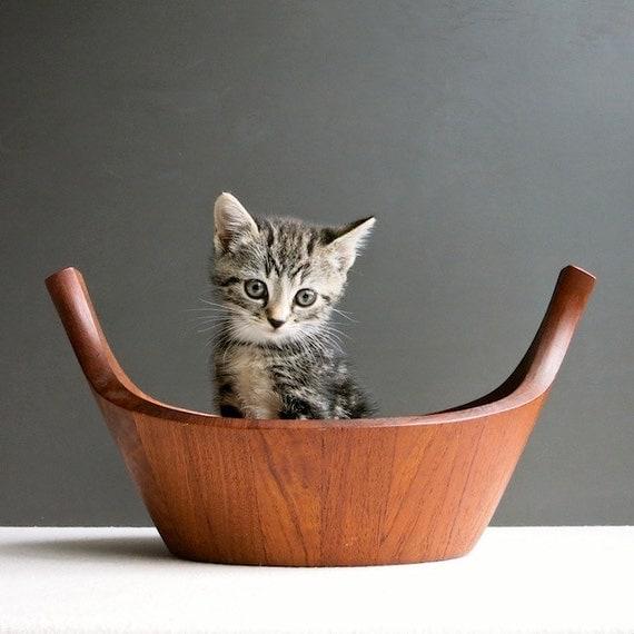 Dansk Teak Viking Bowl by Jens Quistgaard - Danish Modern Wood Salad Bowl IHQ - Mid Century Modern Kitchen Decor