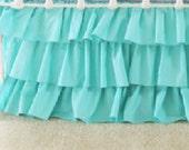 Turquoise 3-Tier Ruffle Skirt
