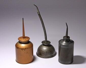 Vintage Oil Can Collection - circa 1940's