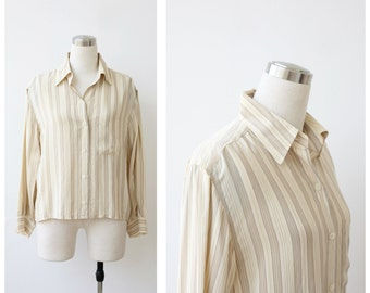 Designer Silk Blouse, Silk Top, Silk Shirt, Women's Silk Blouse Small Medium
