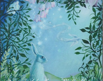 "Hare Print ""Edge of the Moongarden """