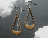 cherish crescent dangly earrings