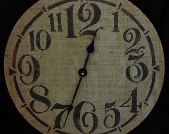 22 Inch RUSTIC RECYCLED Wall CLOCK with Over Sized Funky Numbers