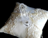 Fairy tale  Cinderella ring bearer pillow glass slipper .ring bearer  pillow