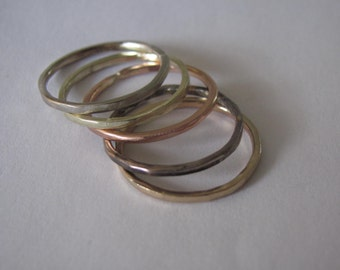 5 Solid Gold Rings in Different Colors