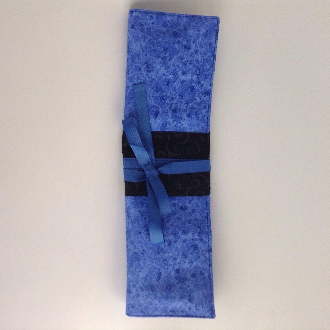 Knitting Needle Case Nz : Blue knitting needle case holder by