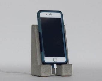 Concrete Cell Phone Stand / Tablet Stand // iPhone // Galaxy