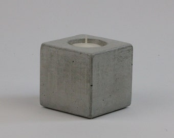 No.14 Cube Concrete Tea Light Candle Holder