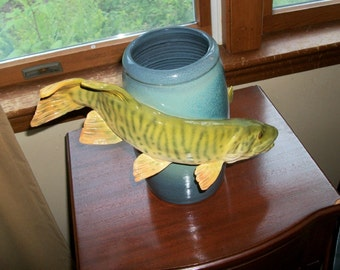 Unique Handmade Fish Vase - One of a Kind