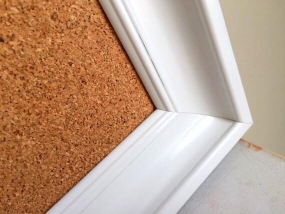 Cork board modern white home office organizer by shugabeelane for Modern cork board