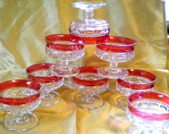 Vintage Kings Crown Ruby Flash Dessert Dishes**8**