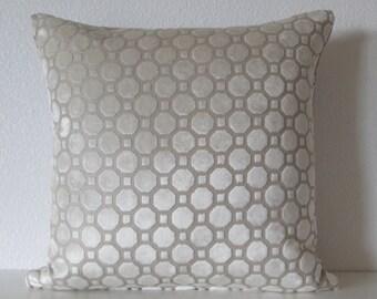 Robert Allen Velvet Geo Pearl decorative pillow cover