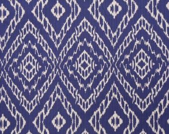 Robert Allen Strie Ikat Ultramarine blue ivory decorative pillow cover