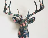 Rifle Paper Co Floral Deer Head Wall Mount Faux Taxidermy
