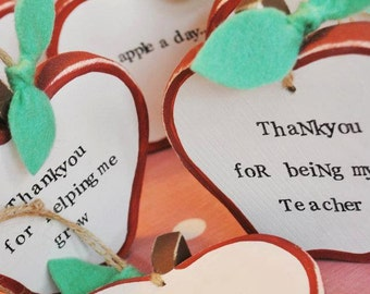 Handmade wooden Teacher/TA/Nursery key worker/Childminder thank you apple gift