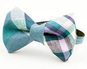 Cat Bow Tie Collar Madras