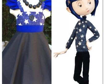 Custom Boutique Coraline Inspired Dress