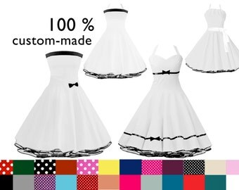 Petticoat dress 100 % custom-made in Your favorite look and color