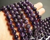 Amethyst - 12 mm  round beads -  full strand - 33 beads - RFG211