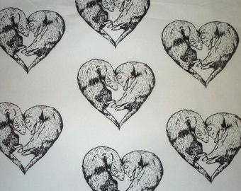 Ferret Fabric Heart Hot Diggity Dog Fabrics Novelty Fabric 1 yd