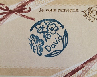 Customisable Deluxe Flower Name Stamp