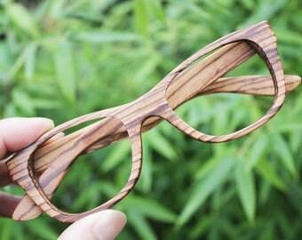 WALKER handmade zebra wood TAKEMOTO sunglasses wooden glasses