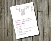 DIY Printable Bachelorette Party Lingerie Invitation DIGITAL FILE