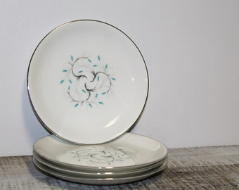 1950's Jeanette Pattern Bread and Butter/Dessert Plates Made in Japan, Set of Four.