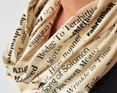 Banned Books Scarf, Christmas Gift for Book Lover, Bookish Present