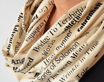 Banned Books Scarf, Mother's Day Gift for Book Lover, Bookish Present